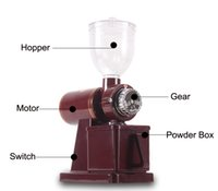 bean crusher - free ship coffee grinder V electric convenient gear coffee bean grinder coffee bean grinding machine coffee bean crusher pulverizer