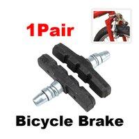 Wholesale 1 Pair Bike Brake Pads Cycling Brake Blocks Holders PLFL