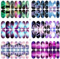 glow in dark products - New Products Scenery Series Glow in dark Nail Art Sticker Hills and Waters Decals