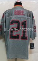best gore - Factory Outlet Frank Gore Jersey Lights Out Grey Elite Football Jersey Best Quality Authentic Jersey Embroidery Logo Size M XL