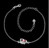 artistic christmas - Sterling silver jewelry in Europe and America Ms beautiful artistic personality butterfly anklets paragraph SPA041 B