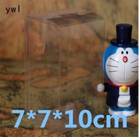 Wholesale 30pcs pvc Plastic Transparent gift Display Foldable box Rectangle Candy jewelry packaging