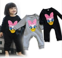 Wholesale baby winter warm romper children cartoon printing pure color long sleeve one piece boys girls colthes kids clothing JL