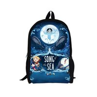 Wholesale 2015 New Design Song of the Sea Backpack Children Cartoon Printing Backpacks Child School Bags for Teenagers Outdoor Mochilas