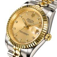Wholesale HOLUNS luxury brand gold men full steel watch men automatic mechanical self wind role watch designer dress men wristwatches