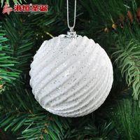 ball swirl - Christmas tree decoration cm white swirls glued sequins high grade g bubble Christmas ball styrofoam balls ornament crafts party suppli