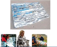 Wholesale New Waterproof Emergency Survival Foil Thermal First Aid Rescue Blanket Tent lot1027