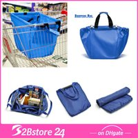 shopping trolley bag - Supermarket Shopping Trolley Bag Insulated Cool Bag Compartment Big Pockets
