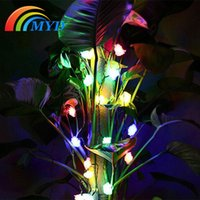 garden angels - Led Solar Light Outdoor Garden Fairy Lights rose Led String Light For Outdoor Party Holiday Christmas Party Wedding Freeship