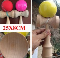 Wholesale Via Fedex EMS Jumbo Kendama Toy Japanese Traditional Wood Game Kids Toy PU Paint Beech x8CM