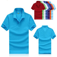 Wholesale 2015 new fashion men s short sleeved polo shirt lapel Men s T shirt