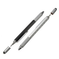 Wholesale New Arrive Modern Design Overvalue Handy Tech Tool Ballpoint Pen Screwdriver Ruler Spirit Level Multifunction Tool Fit For Mens Gift
