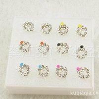 ads stud - stud earrings for women earrings fashion jewelry Packed drip cool ADS alloy earrings jewelry earrings minimalist style