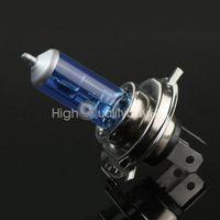 Wholesale 2 x H4 W Halogen Light Bright White Car Headlight Bulbs Bulb Lamp V K