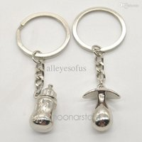 antique baby rings - New Pacifiers Baby Feeding Bottles Key Chain Lover s Keychain lovely Couple Key Chain Rings FMHM140 M1