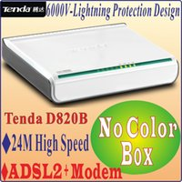 Wholesale Networking Modems Tenda D820B High Speed DSL Internet Modem ADSL Wired Router ADSL Broadband Modem No Color Package Box PROM