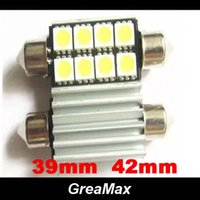 Wholesale Canbus Festoon mm mm W SMD Error Free Dome Light LED Bulbs DC V