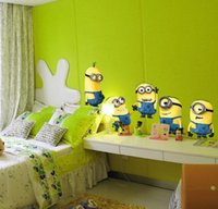 Wholesale Explosion models small yellow People Children Bedroom Despicable Me Despicable Me New wall stickers