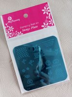 Wholesale 1Pcs Styles Stamping Nail Art Steel Image Plate Stamp Manicure Template Hot Nail Tools JH005
