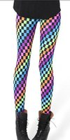 Wholesale 2014 Women s Fashion Print Rainbow Leggings Stretch Skinny Cheap price
