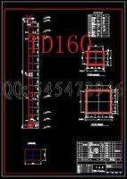 belt elevators - TD160 belt bucket elevator drawings Full Machining drawings