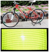 Wholesale 6 COLORS Reflective stickers bike Cool DIY Bicycle wheel stickers Motorcycle Wheel Rims Reflective Stickers Bicycle accessories B303