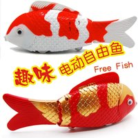 Cheap Wholesale-Emitting electric stall selling fish tail wagging tail will luminous voice toys wholesale 90g carp