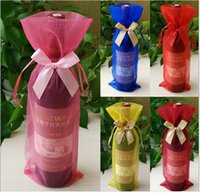 Wholesale Wine Bottle Cover luxury Clear Organza Drawstring birthday gift bags Bags cm x cm Christmas candy bags Fashion Gift Pouches