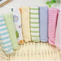 Wholesale 21cmx19 cm Baby Face Washers Hand Towels Cute Cartoon Wipe Wash Cloth Cotton Baby Towels