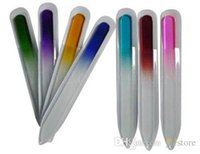 Wholesale Glass Nail Files Durable Fashion Colorful Crystal Glass File Buffer Nail Art Buffer Files For Manicure UV Polish Tool Nail Art