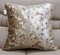 Wholesale cushion cover pillow case boster case pillow cover luxury gilding pleuche back sofa pillow cushion set free shippig cm