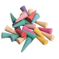 Cheap 25 Mix Stowage Colorful Fragrance Triple Scent Incense Cones Potpourri PTCT HB88