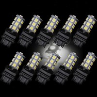 Wholesale 10Pcs White SMD Reverse Brake Stop Turn Tail Back Up LED Light Bulb