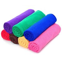 Wholesale 30x70CM quot x27 quot Microfiber Car Cleaning Towel Microfibre Detailing Polishing Scrubing Waxing Cloth Hand Towel