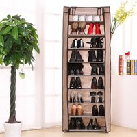 living room furniture - 10 Layers Simple Non woven Fabric Shoe Rack With Door Lockers For Living Room And Porch H216