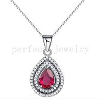 Wholesale Pyrope necklace pendant Real natural pyrope pink garnet sterling silver Perfect jewerly For men or women Fine jewelry DH