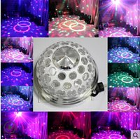 Wholesale 2014 New Laser Projector Sound Lights LED Crystal Magic Ball DMX Stage Effect Light Disco Home Entertainment