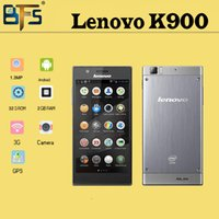 "Cheap Multi-language Original Lenovo K900 phone Intel z2580 5.5"" FHD 1920x1080 pixels Android 4.2 2GB RAM 32GB Dual Camera 13.0MP"