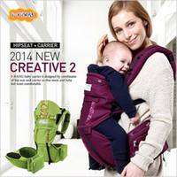 backpack stool - Korean Jerry baby hipseat carrier Multi functional baby carrier double shoulder backpacks cotton waist stool colors season