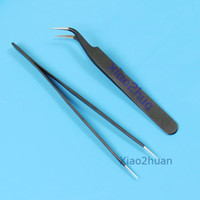Wholesale F85 Straight Curved Tips Tweezers Anti Static Magnetic