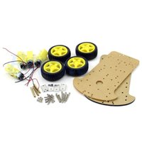 arduino wheel - J34 New Smart Car Chassis WD Wheel Drive Double Level Extended Body For Arduino