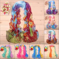 Wholesale In the latest fashion color optional printed chiffon scarf DHL