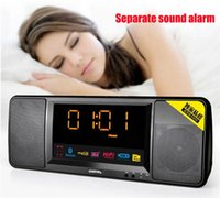 large screen display - Bluetooth HiFi Speakers Strong Bass Wireless Stereo Speaker Large Screen Clock Display TF Card Player Home Subwoofer HYX144