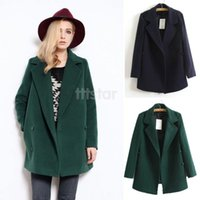 Womens Green Wool Coat | Down Coat