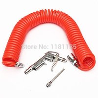 Wholesale Hot Sale High Grade Red M Air Blow Dust Compressor Blower Spray Gun PU Recoil Hose Nozzle Air Tool