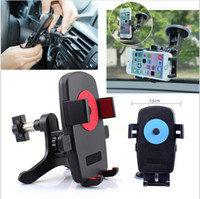 automotive stands - Universal Car Air Vent Mount Cradle Phone Stand Automotive Air Conditioning Holder For iPhone s s plus Samsung Cell Phone DHL Freeship