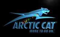 arctic cat logos - LG129 TM Arctic Cat Snowmobiles Logo Neon Light Sign Advertising led panel jpg