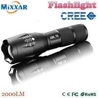 Wholesale zk30 Lumens CREE XM L T6 LED Adjustable Flashlight High power Torch light For xAAA or Battery