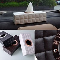 Wholesale Car Tissue Box Cover car pumping tray creative upscale leather tissue box with a tissue box car