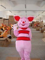 Wholesale Cute Pink Piglet Pig Cartoon Mascot Costume Fancy Party Dress Pink Piglet Pig Mascot Costume Adult Size New Style Pink Pig